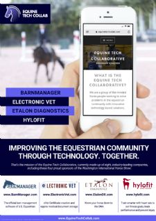BarnManager and the Equine Tech Collab Sponsor 2019 Washington International Horse Show